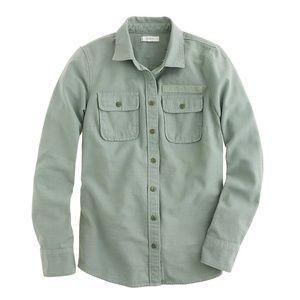 J.Crew Military Pocket Shirt Size 8